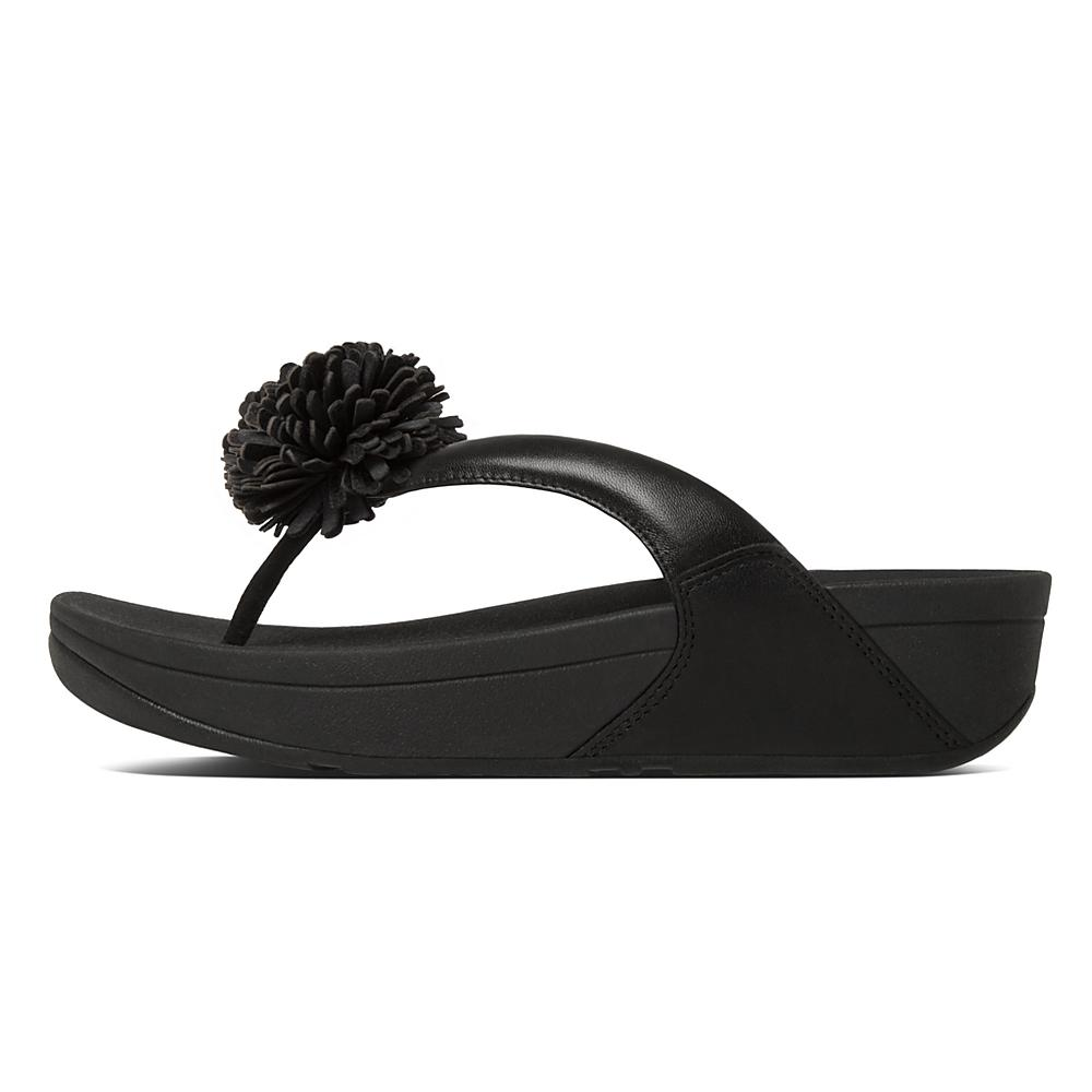 Flowerball Leather Toe Post FitFlop