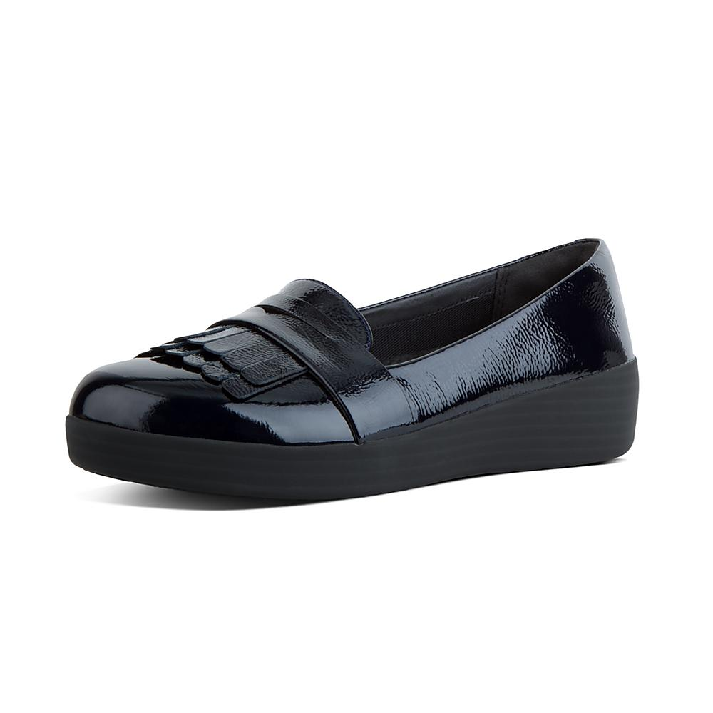 Fringey Sneakerloafer - Midnight Navy Patent 6.5 UK FitFlop