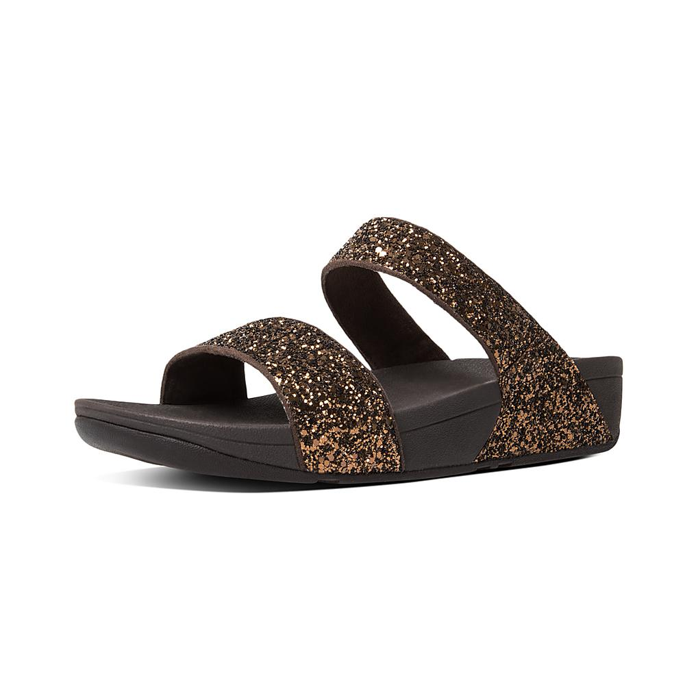 2d738a7ffc2c10 ... Flops - Black factory outlets 696ce 15f44  Fitflop™ Women s Glitterball  Microfibre Slide Bronze super cute cd879 be9be  Fit flop ...