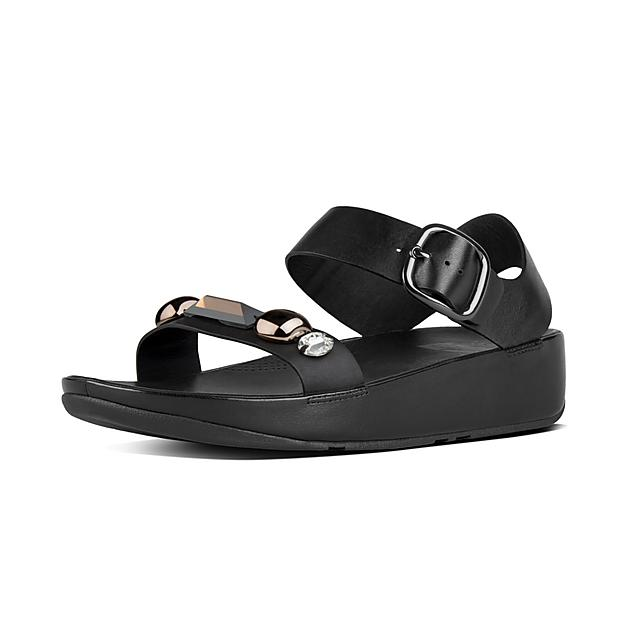 9c4d0f3c8bb1 Fitflop™ Women s Jeweley Leather Sandals Black