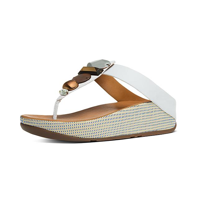 85865cd9c Fitflop™ Women s Jeweley Leather Toe-Thongs Urban White