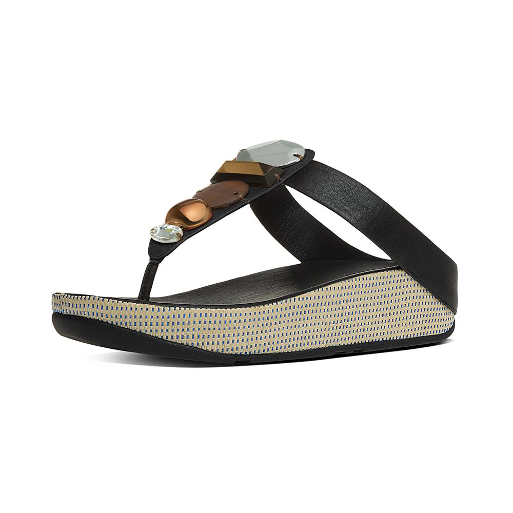 FitFlop JEWELEY TOE-POST Noir