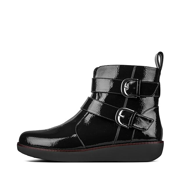 48bd90fb2b93c7 LAILA. Double Buckle Ankle Boots