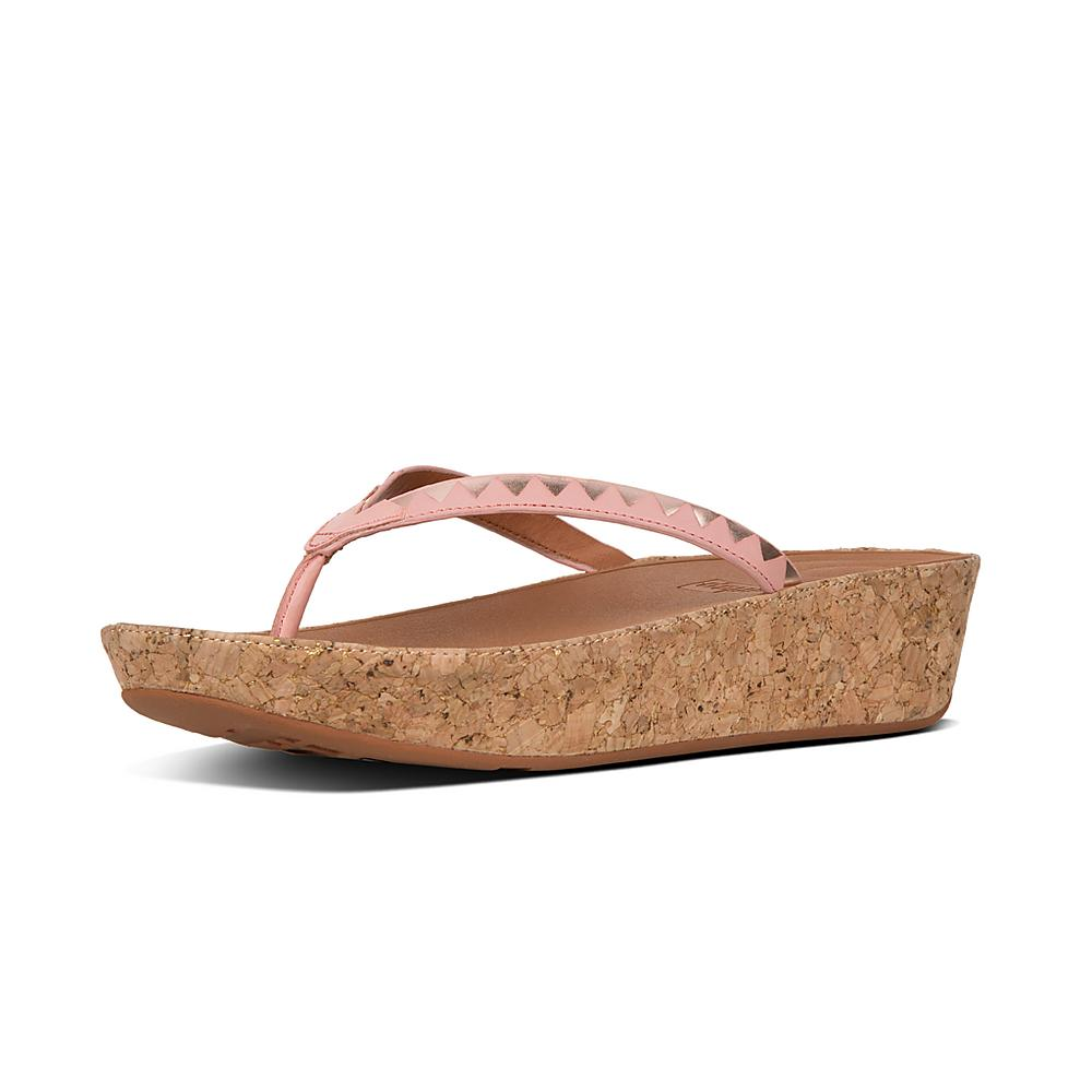 Linny Slide Sandals - Zigzag Mirror Colour: Dusky Pink/Rose FitFlop s0yRD9VAv
