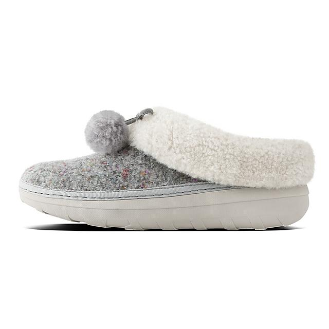 86c4d5b7d LOAFF. Felt Slippers With Pom Poms