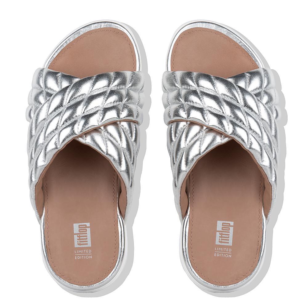 2fae2567351b ... Slide Metallic Leather Sandals Sandales Métallisé authentic quality  86f80 7e299  LOOSH LUXE. Click to zoom new arrive dbf5f 8b362 ...