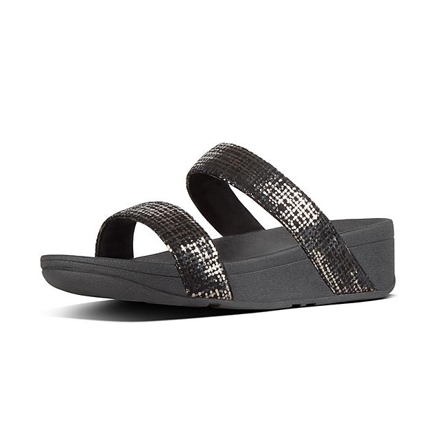 408883120 LOTTIE. Chain-Print Suede Slides