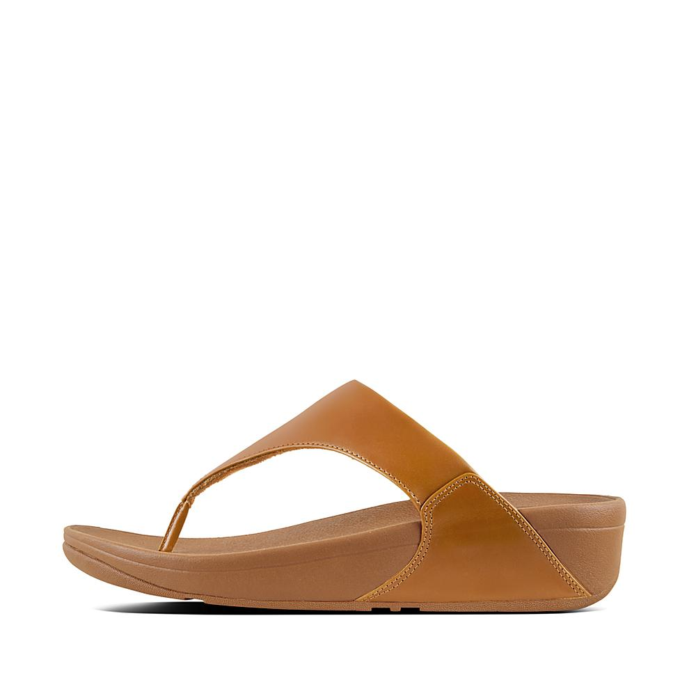 Womens Lulu Leather Toepost Thong Sandals FitFlop