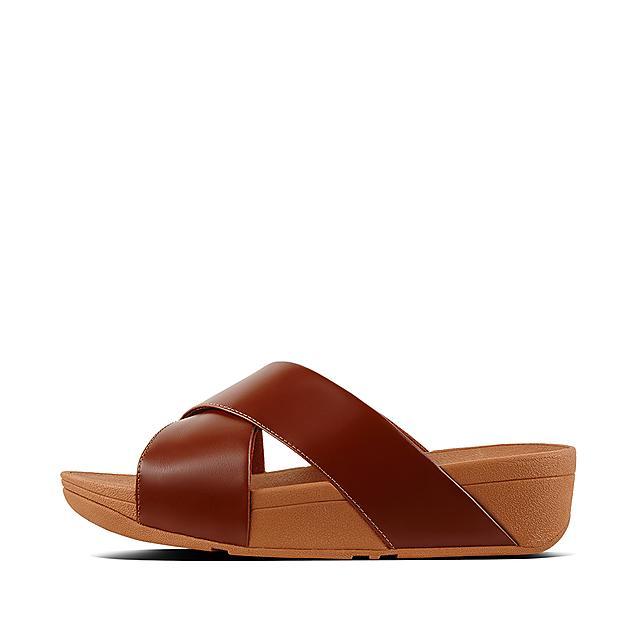 86a25bee92f32b Women s LULU Leather Slides