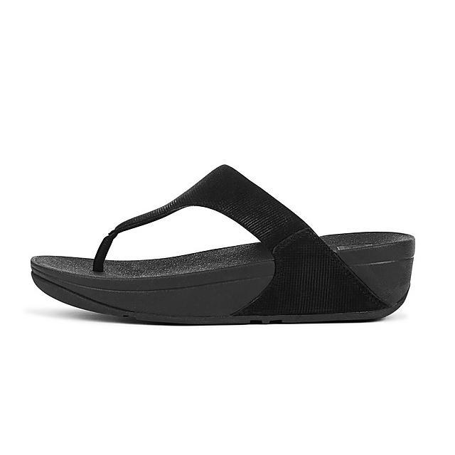 f68639ec589 LULU. Shimmer-Check Toe-Thongs