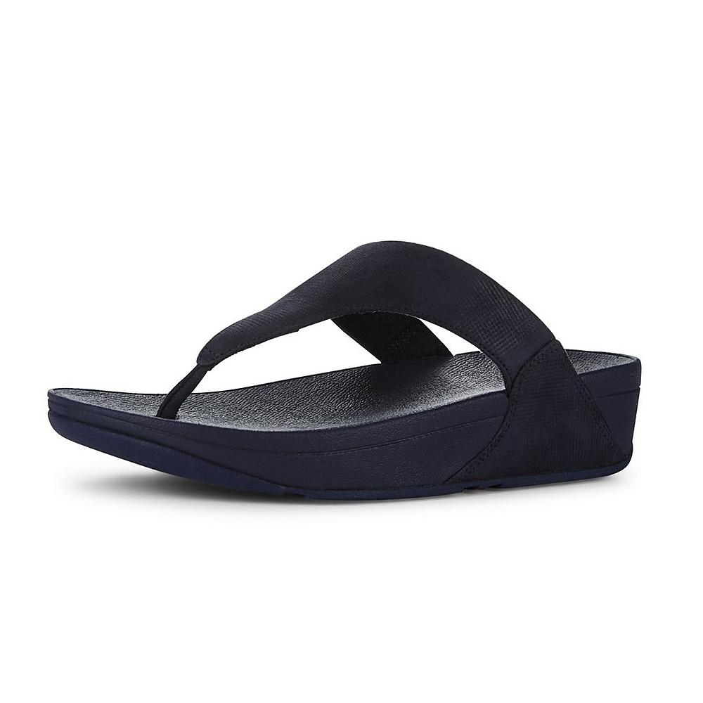 Womens Lulu Toe-Thong Shimmer-Check Sandals FitFlop