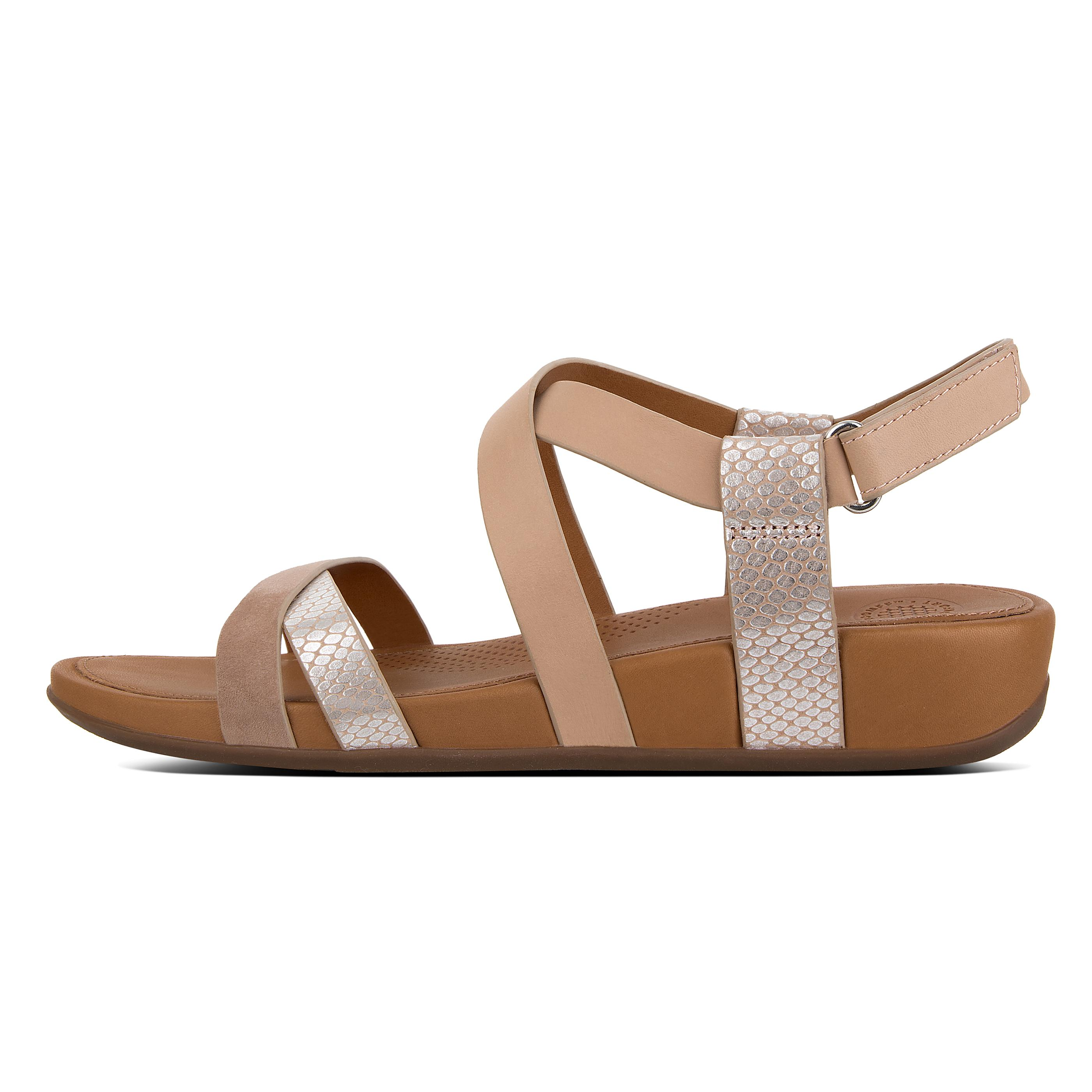 FitFlops Women's Lumy Criss Cross Leather Sandals Shoes