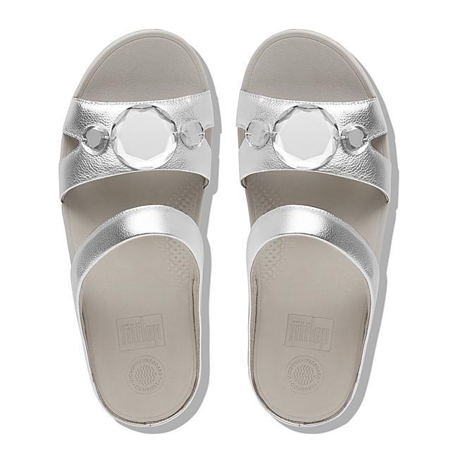 256853203645 Women s LUNA-POP Faux-Leather Slides