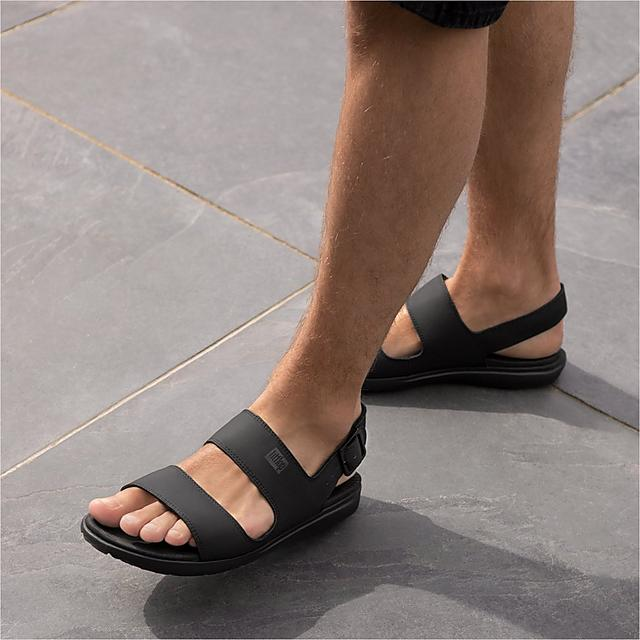Fitflop Mens water-resistant neoprene back-strap sandals with adjustable straps in black