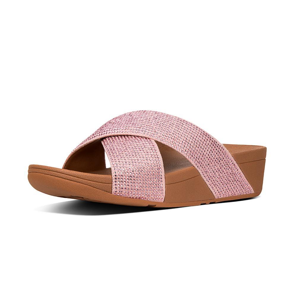 FitFlop Damen Ritzy Slide Sandals, Pink (Dusky Pink 535), 38 EU