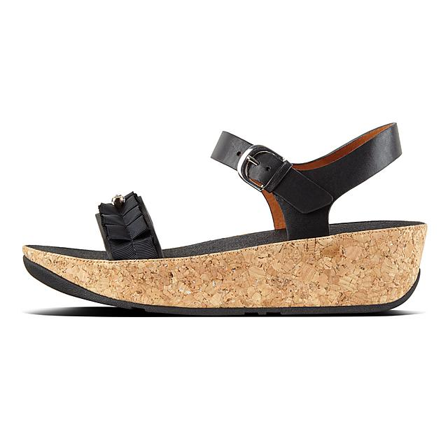 915e5dd93cf94 Women s RUFFLE Leather Back-Strap-Sandals