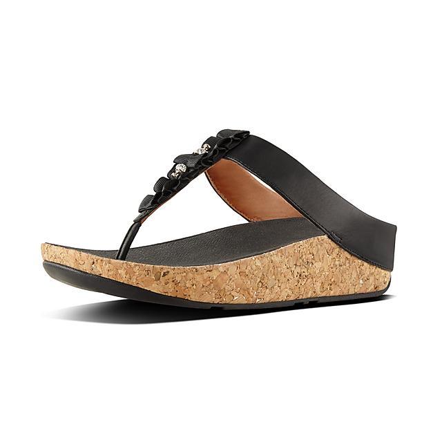 517cfa950 Women s RUFFLE Leather Toe-Thongs