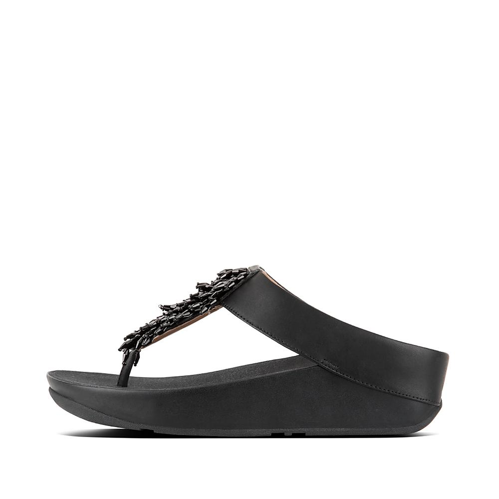 fitflop Rumba Toe Thong Sandals K26-001 black