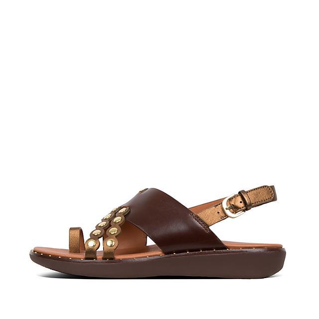 6f6da1e7d71b63 Women s SCALLOP Leather Back-Strap-Sandals