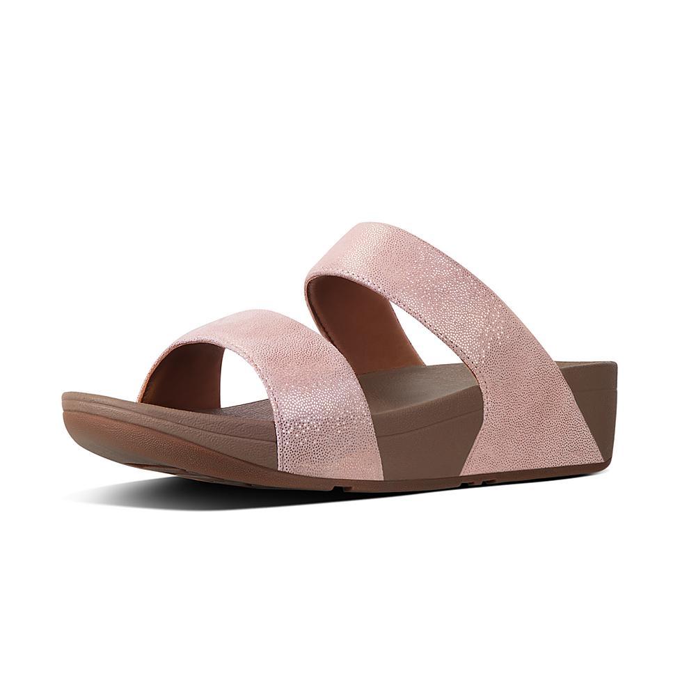 Womens Shimmy Suede Slide Sandals, Black FitFlop