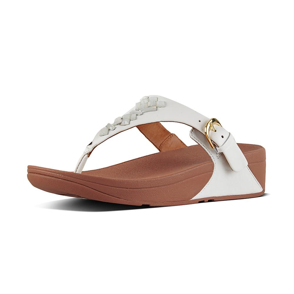 FitFlop THE SKINNY White Shoes Sandals Women 6mzRVR6l