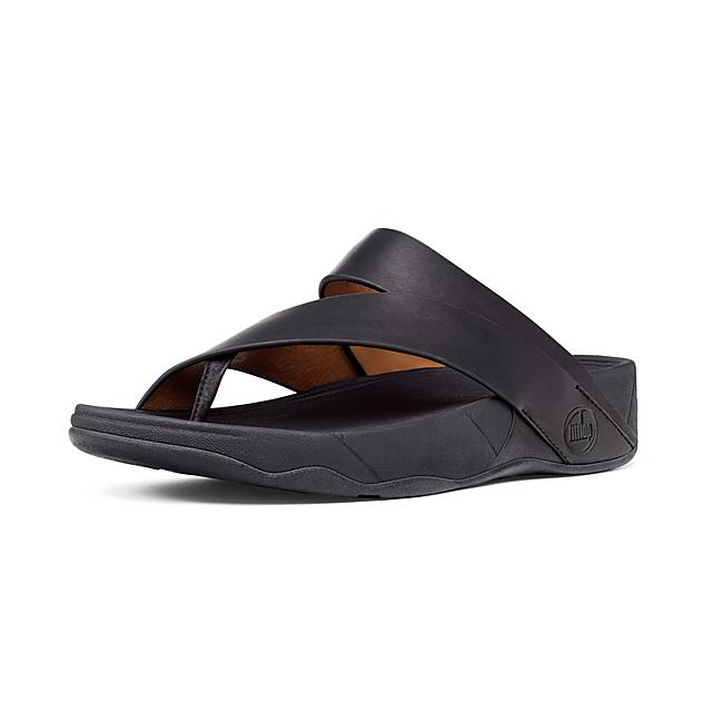 c8a958eb04253b Fitflop™ Men s Sling Leather Toe-Thongs Black