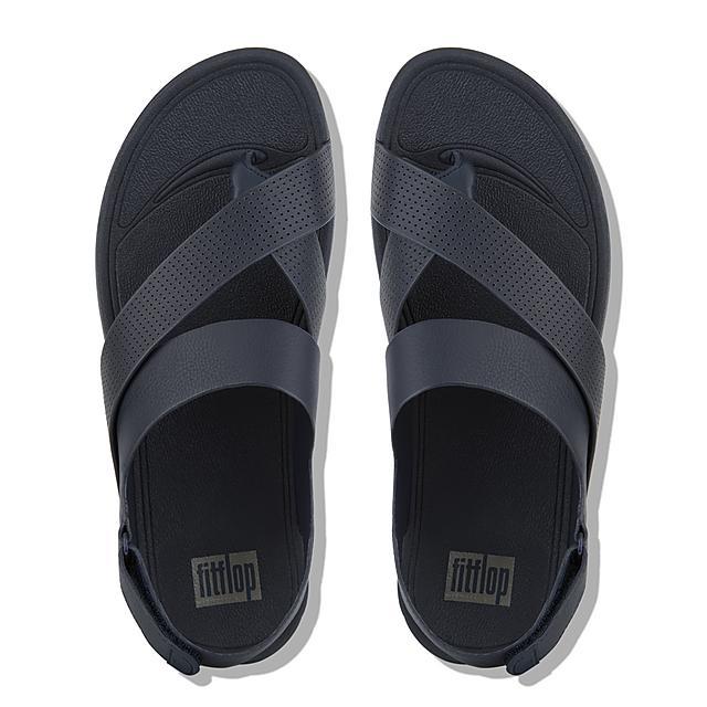 af32ef39c64 Fitflop™ Men s Sling Leather Sandals Midnight Navy