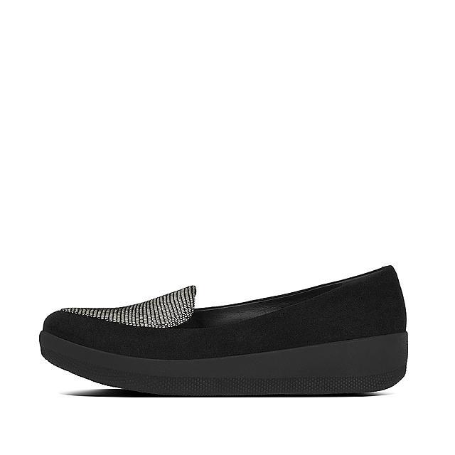 SNEAKERLOAFER Chaussures En Daim Impression Lézard Lézard noir ... fb2f4130a51