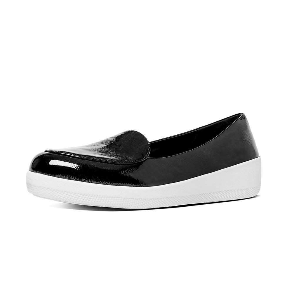 Fitflop Ballerina Sneakerloafer? Fitflop Sneakerloafer Ballerine? Black Patent Zwart Noir Verni Noir 9sfgVFWWKP