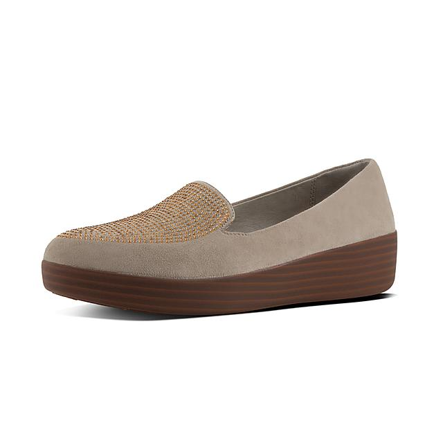 edcd7addd8449 Fitflop™ Women s Sneakerloafer Suede Loafers Desert Taupe