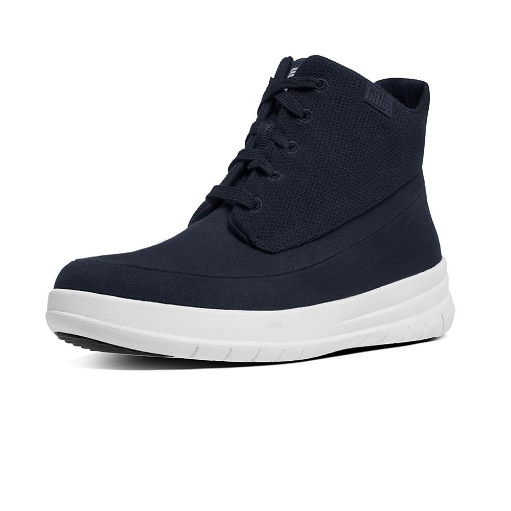 Mens Sporty Pop High Canvas Trainers FitFlop