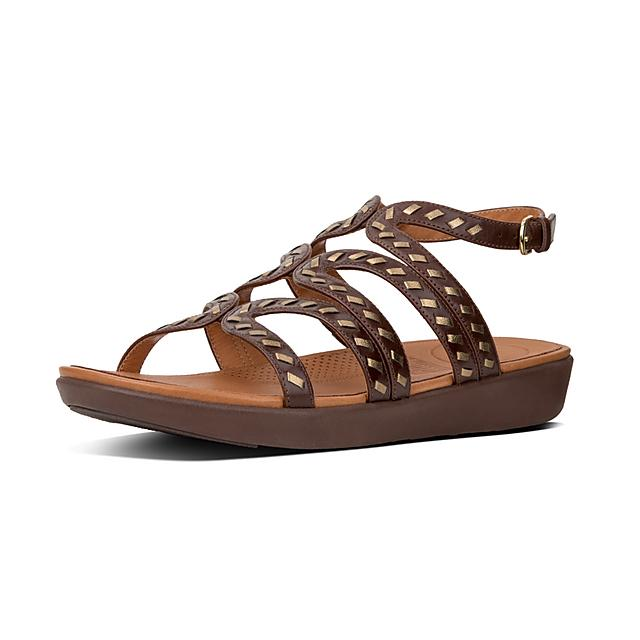 36e9d179524 STRATA. Whipstitch Leather Gladiator Sandals