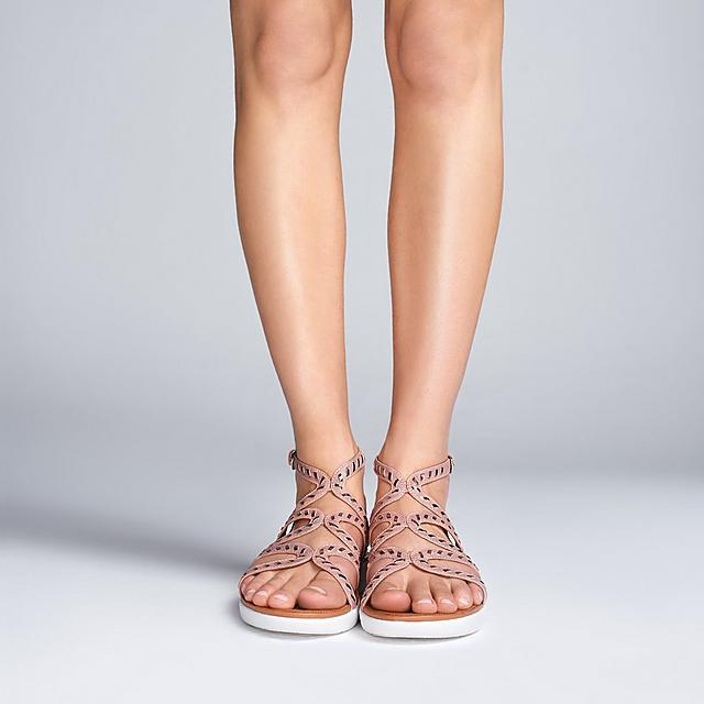 65eb59c8a6d STRATA. Whipstitch Leather Gladiator Sandals