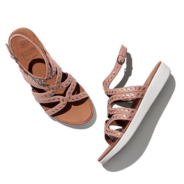 3754d8abd52 STRATA. Whipstitch Leather Gladiator Sandals