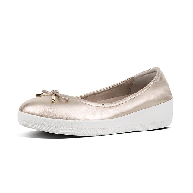 d763642801c Women s SUPERBENDY Leather Ballet Flats