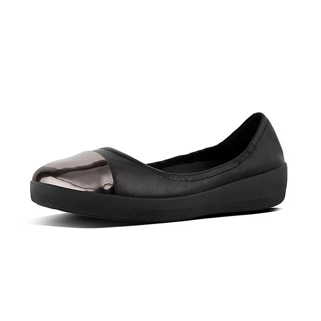 043f70bbc547 SUPERBENDY. Mirror-Toe Leather Ballet Flats
