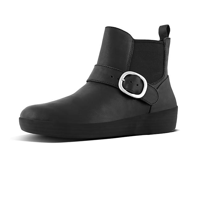 ede22535e33d2c SUPERBUCKLE. Leather Chelsea Boots