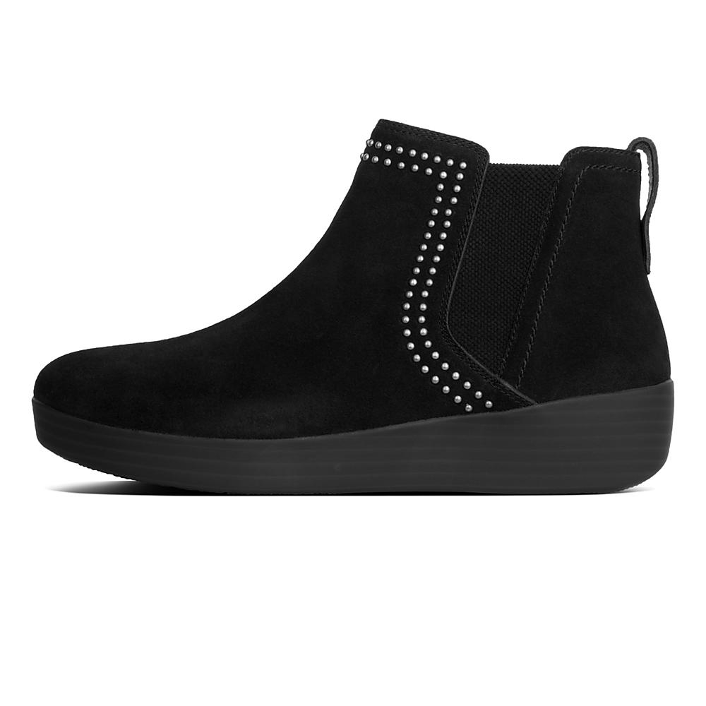 FitFlop Superchelsea Suede Boot w/ Studs