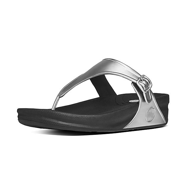 a22e6edb778 Fitflop™ Women s Superjelly Rubber Toe-Thongs Silver Mirror