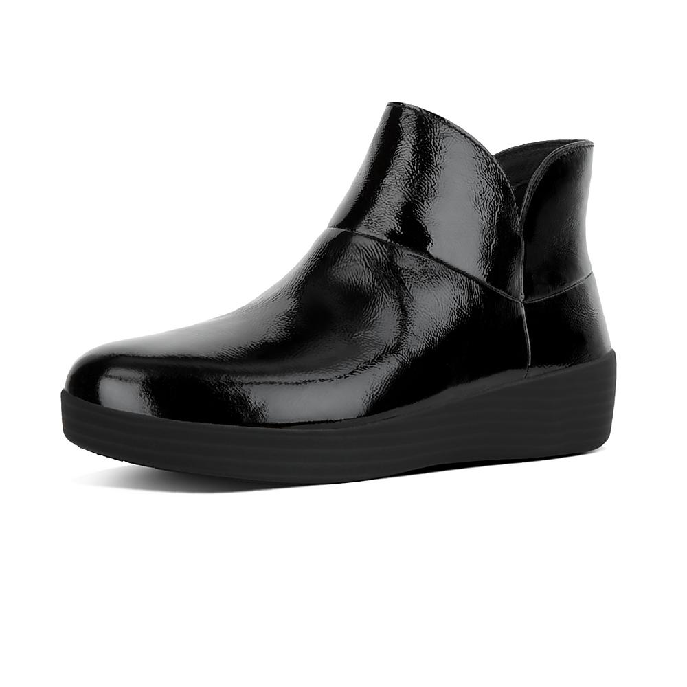 FitFlop Supermod Ankle Boot - Black Patent 6.5 UK