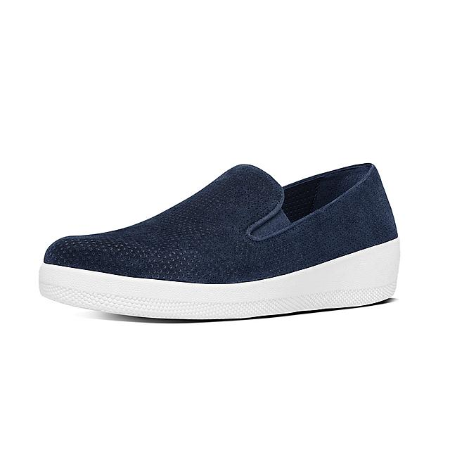 a1fad607088aa6 SUPERSKATE. Perforated Suede Loafers