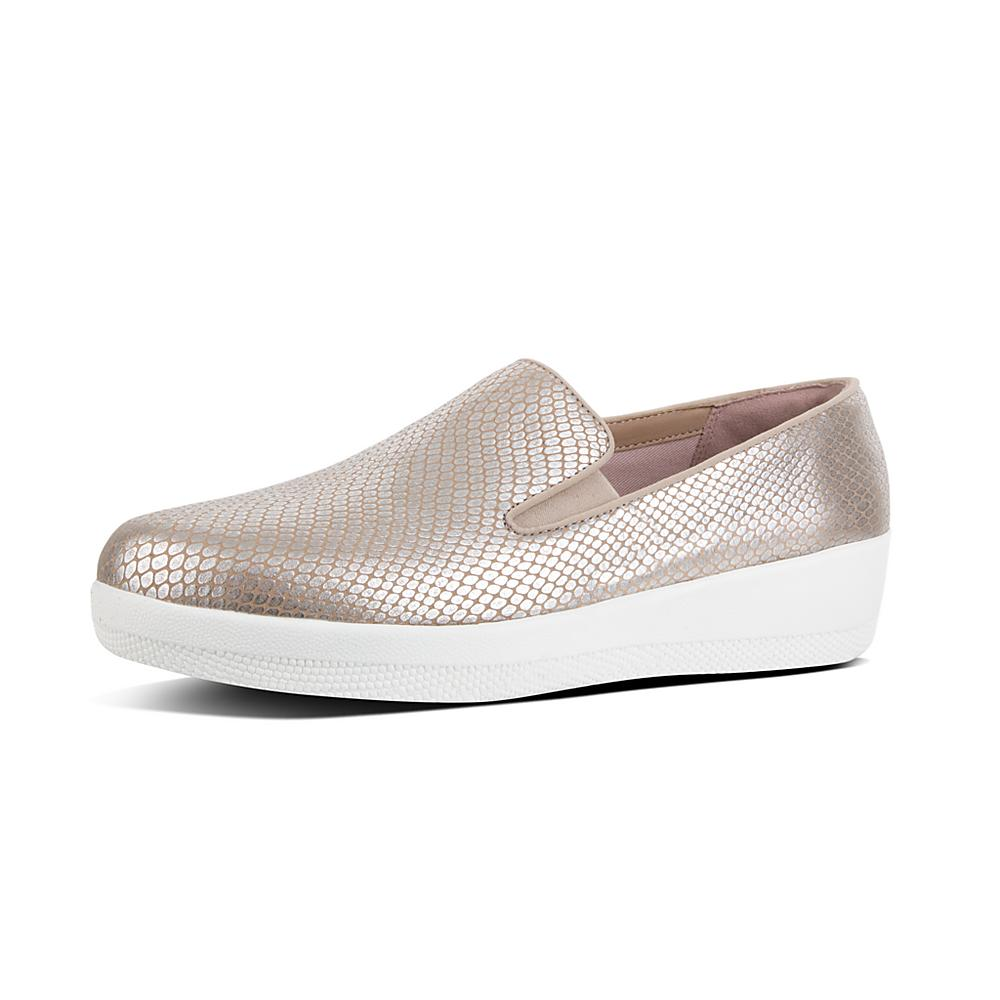 FitFlop Superskate Metallic Leather Slip-Ons