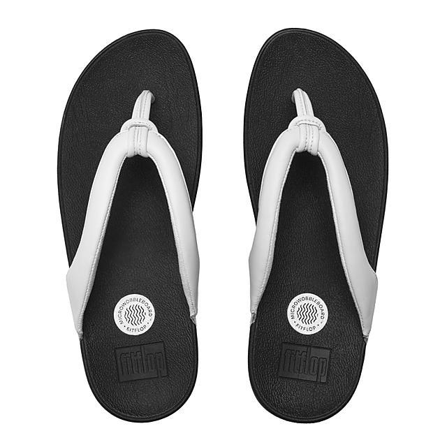 da984abd51743d Fitflop™ Women s Swirl Leather Toe-Thongs Urban White