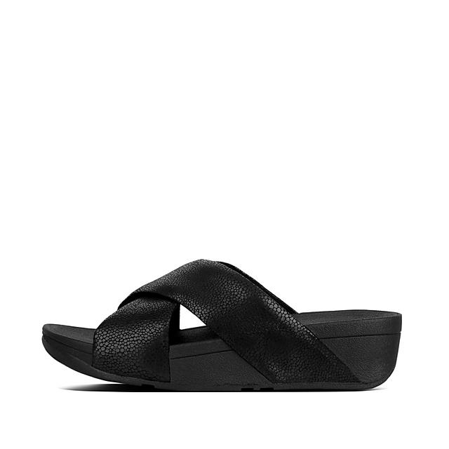 55a8cd67aa26c Women s SWOOP Leather Slides
