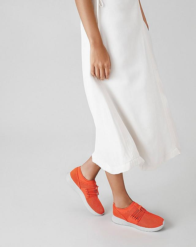 Women wearing Orange Slip-on Airmesh Sneakers from Fitflop