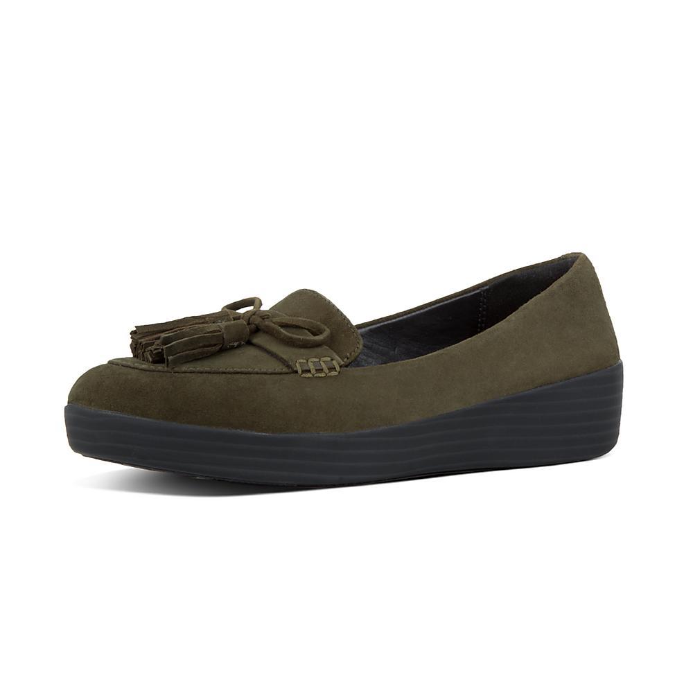 Tassel Bow Sneakerloafer - Camouflage Green