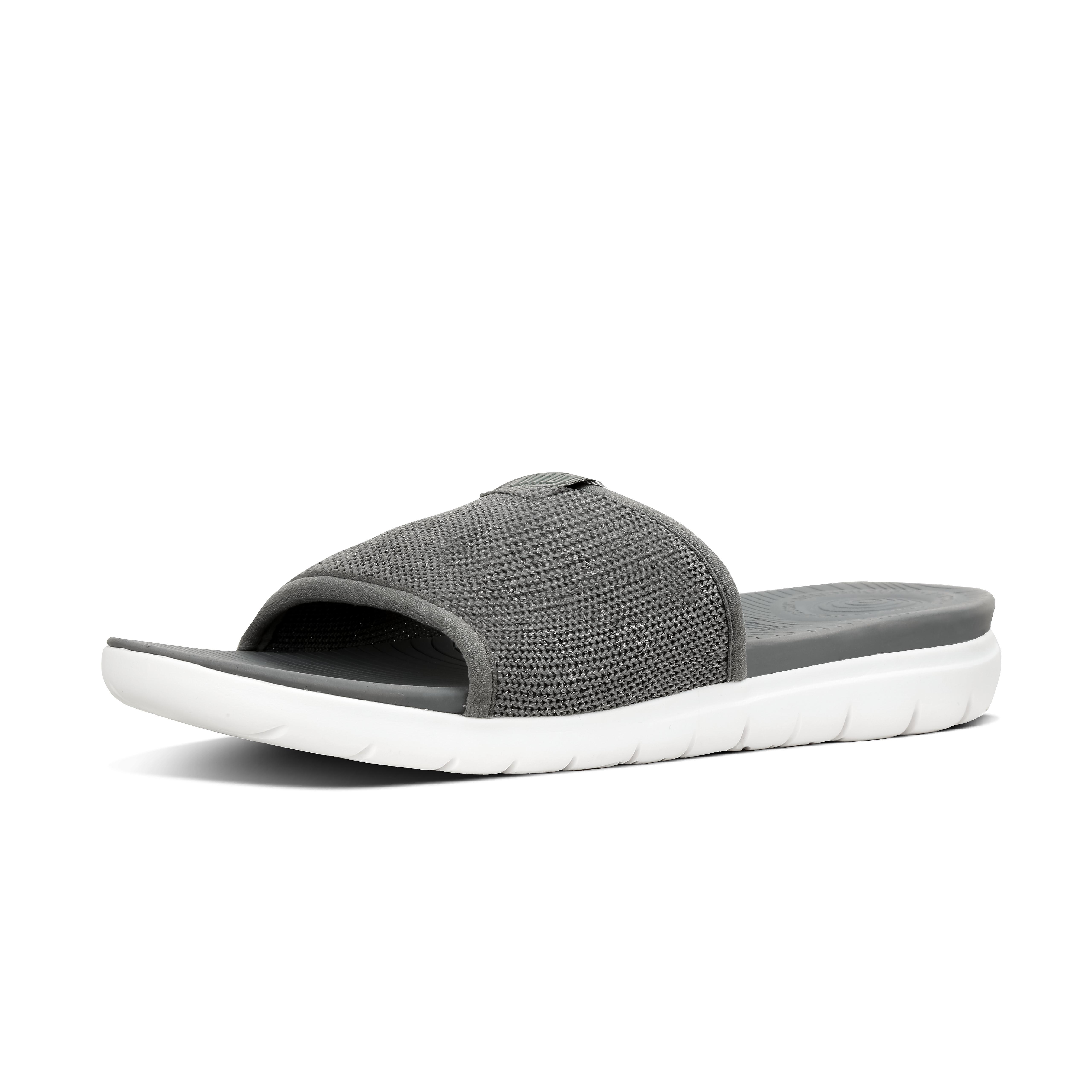 Uberknit slide sandals charcoal grey pewter m44 605