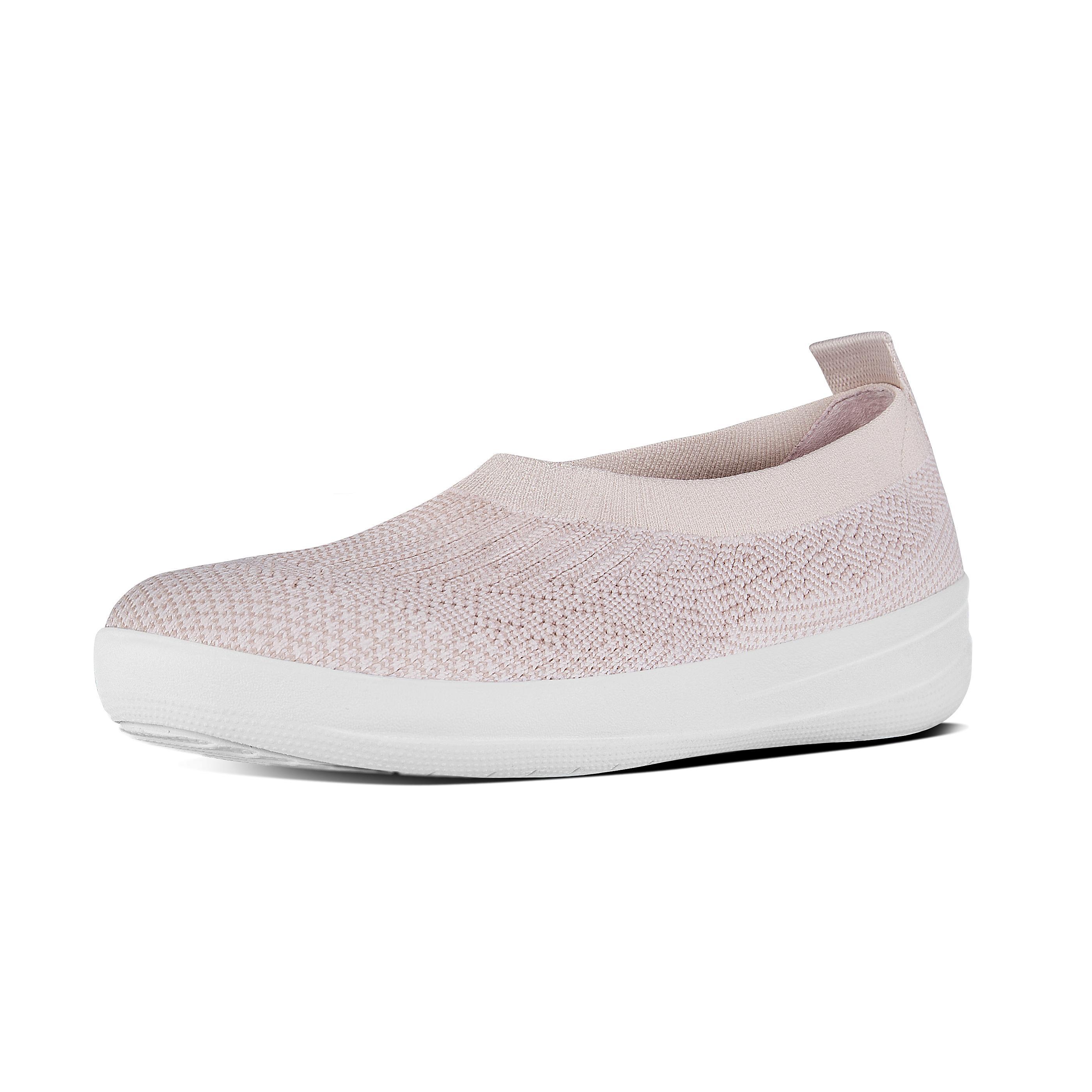 Uberknit slip on ballerina neon blush white h95 460