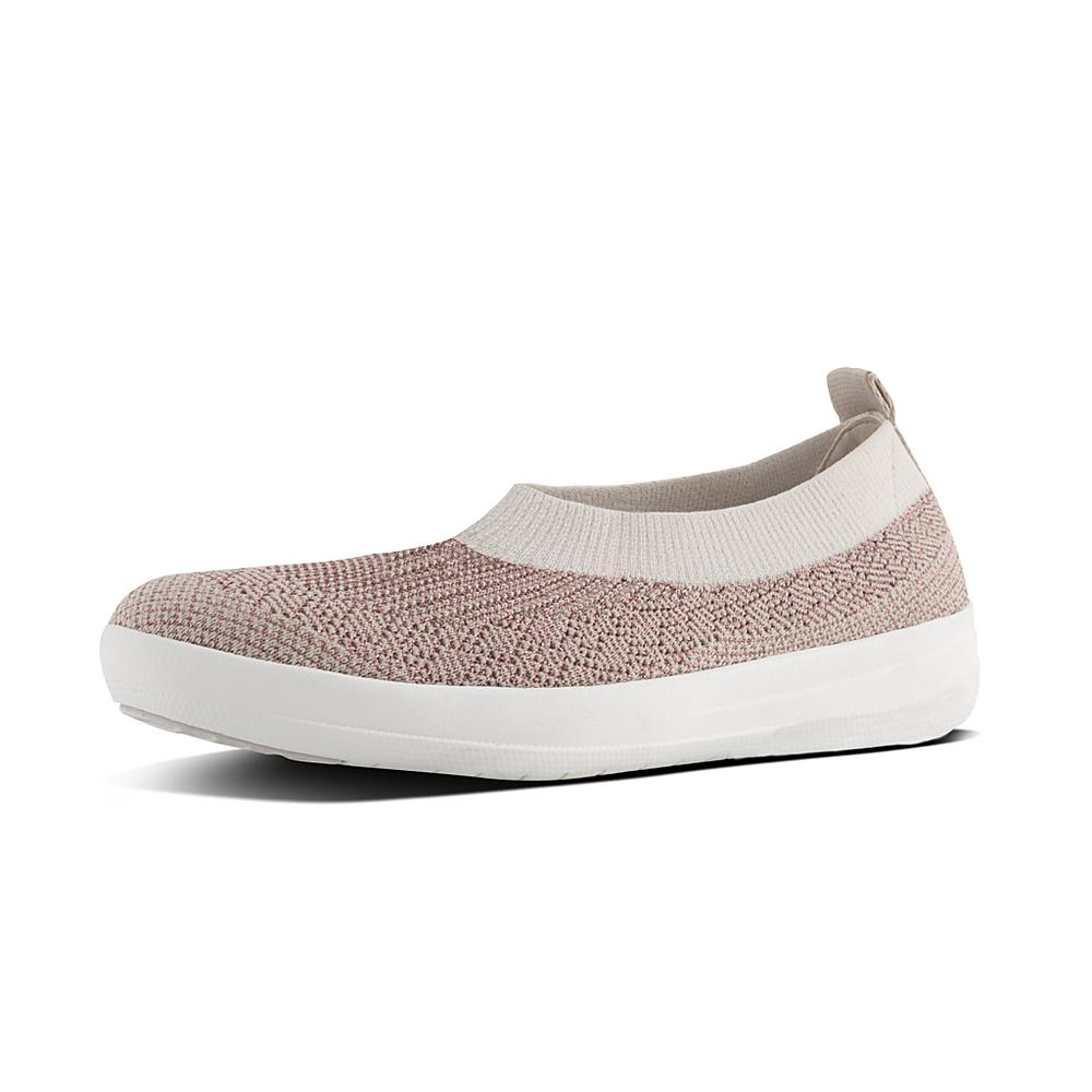 fast delivery online outlet where can you find FitFlop Uberknit Slip-On Hi Top Stone/Rose Gold Metallic footlocker finishline online cheap sale footlocker pictures 8YRSR