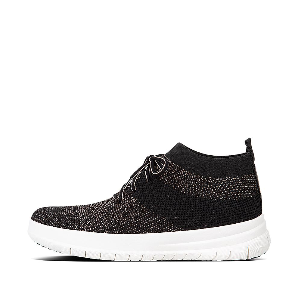 FitFlop Damen Uberknit Slip-on Sneakers-Metallic Hohe Sneaker
